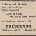 Anthony & his Skylarks: Echo van het Zuiden 8-1-1965