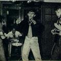 vlnr: Wim Hoekstra, ? drummer, Paul Gimbel en Charles Pater. Foto uit de TeleVizier van 10-10-1959