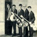 The Black Albino's (1962) vlnr: Joop Jonkers (Dean Holley), Martin de Roo, Paul van de Voort Maarschalk, Joop van Heusden, Simon Lardenoy