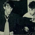 Paul Gimbel en Charles Pater. Foto uit de TeleVizier van 10-10-1959.