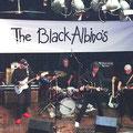 The Black Albino's even terug in La Gaité op 05-06-2005 vlnr: Joop van Heusden - Martin de Roo - Paul van der Voort Maarschalk - Simon Lardenoye