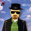 "Mi homenaje a la serie ""Breaking bad"", este es Walter White / Heisenberg, interpretado maravillosamente por Bryan Cranston."