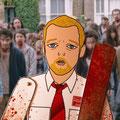 """¡Viva la trilogía del Cornetto! Este es mi homenaje a Shaun de """"Shaun of the dead"""" (traducido en España como """"Zombie´s party"""", me lo expliquen), interpretado por el gran Simon Pegg."""