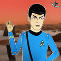 "Un homenaje a Spock de la genial ""Star Trek"" interpretado por Leonard Nimoy."