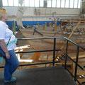 Xanten: Schiffswerft im Archäolog. Park Xanten: nachgebautes Frachtschiff