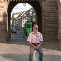 Basel: an einem Baseler Stadttor (Spalentor)