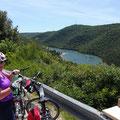 Unterwegs nach Rovinj - Blick auf Limski-Fjord
