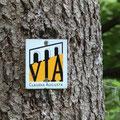 Radweg-Signet der Via Claudia, auf der wir bis Verona fahren