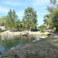 lac de la Thésauque près des Gites des Camparros à Nailloux