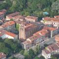 vue aérienne du village de Nailloux près des Gites des Camparros