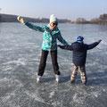 Schlittschuh-Spaß auf dem Glindower See