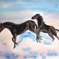 """Серия """"Кони"""" Акварель 30х40 см    Series """"Horses"""" Water color of 30х40 cm"""