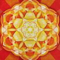 Sakral Chakra, Acryl auf Leinwand 20 x 20 cm, verkauft!