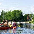 Kanutouren mit dem Zehner Kanu- auf der Alten Spree in Köpenick