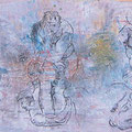 Michaelsparade I... 185 x 44 cm lack auf holz