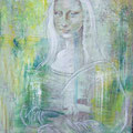 Mona   Pastell,  Acryl auf Leinen  40 x 55 cm