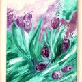 Tulpen, Öl auf Leinwand
