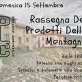 """Cerignale 15 settembre """"Rassegna dei prodotti della montagna"""""""