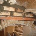 Befestigung der Stufen der Wendeltreppe