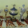 Unsere Pokale für die gewonnenen Meisterschaften