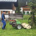 Mulcharbeiten  mit der Rapid