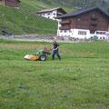 Mulchen in Zürs, Skischulsammelplatz