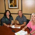 Mario, mi Co-Equiper de El Independiente  y Marisa, Coordinadora de La Radio