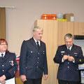 Johann Struck wird das Brandschutz Ehrenzeichen der Stufe 1 für 40 Jahre Mitgliedschaft geehrt