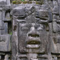 größten Masken/Gesichtern in einer Maya-Stadt