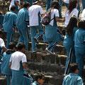 Blaues Wunder stürm den Palast des Quetzalpapalotl, eine mexikanische Schule hat Schulausflug