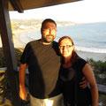 Und wir an der Long Beach bei Sonnenuntergang