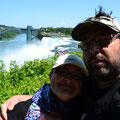 Ja wir an den Niagara Falls