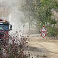 18.10.2011 massive Staubentwicklung durch LKW-Verkehr