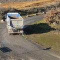 22.11.2011 12.36 Uhr - LKW in Richtung Kiesgrube Schaafheim