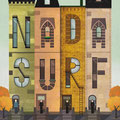 Nada Surf gig poster by Nicole Anguish