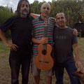 En Pueblo Andino, con Víctor Rodríguez y Diego Contestí