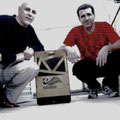 Con el percusionista Marcelo Aronson.  Festival Guitarras del Mundo, Formosa, sábado 13 de octubre de 2012.