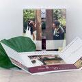 Danksagung zur Hochzeit - Quadratisch Altarfalz