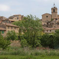 Village de Bras vu des jardins