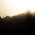 Lever de soleil sur le village de Bras