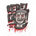 Rebel Kid Stickerdesign, hand-coloured © Jan Leichsnering, All Rights Reserved