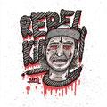 Rebel Kid Stickerdesign, hand-coloured © Jan Leichsnering, All Rights Reserved