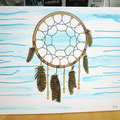 """Dreamcatcher"", hand-coloured on canvas, © Jan Leichsnering, All Rights Reserved"