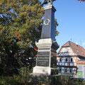 Denkmal in Blickrichtung Hauptstraße, 03/2015