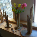 Vases Bouquets grès cuisson four à bois Noborigama - Sylvie Ruiz Foucher -