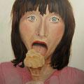 Eat / Öl auf Leinwand / 80 x 80 cm 2014