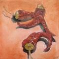 Trockene Chilli / Öl auf Leinwand / 20 x 20 cm 2014 (verkauft)