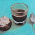 Espresso mit Amaretti / Öl auf Leinwand 50 x 60 cm 2015