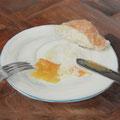 Pochiertes Ei / Öl auf Leinwand / 50 x 70 cm 2014