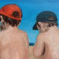 Manuel & Pedro / Öl auf Leinwand / 30 x 40 cm 2014 (verkauft)
